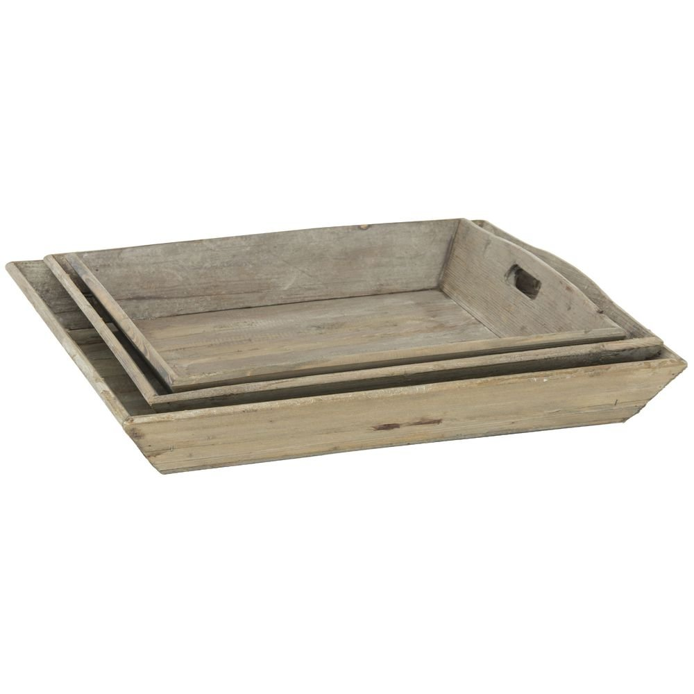 Display Trays Reclaimed Rustic Wood Tray Set Set of 3 by Park Hill Collection (Image #1)