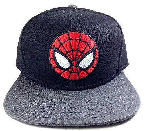 Marvel Ultimate Spiderman Adult Black Snapback Hat
