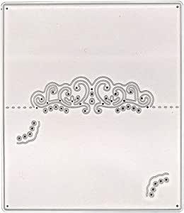 21sandwhick Tarjeta de Grabaci/ón En Relieve Fabricaci/ón de Ranura Nombre Titular de la Mesa Configuraci/ón de Troqueles de Corte de Metal DIY Papel de Recuerdos Artesan/ía Plata