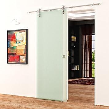 Correderas de cristal de puerta de 1025 x 2050 mm satinado opaca Levidor de acero inoxidable-