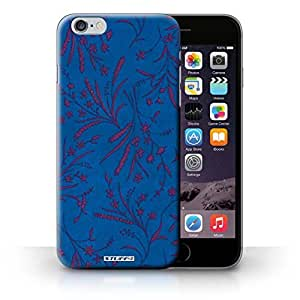 KOBALT? Protective Hard Back Phone Case / Cover for iPhone 6+/Plus 5.5 | Blue/Pink Design | Wheat Floral Pattern Collection
