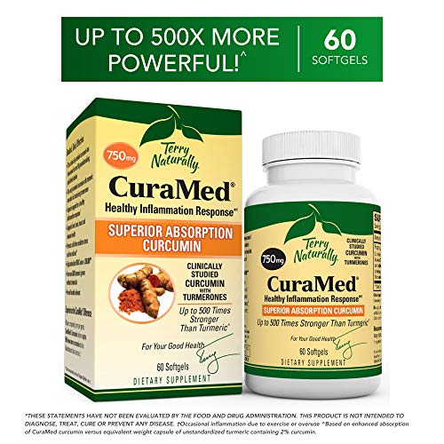 Terry Naturally CuraMed 750 mg - 60 Softgels - Superior Absorption BCM-95 Curcumin Supplement, Promotes Healthy Inflammation Response - Non-GMO, Gluten-Free, Halal - 60 Servings by Terry Naturally (Image #9)