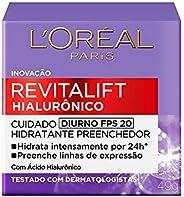 Creme Revitalift Hialurônico Diurno Fps 20, L'Oréal P