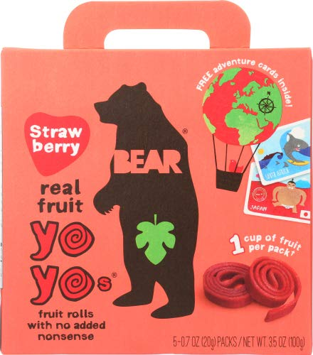 Bear Yoyo Fruit Roll Strwbry Multpk 3.5 OZ (Pack of 12)
