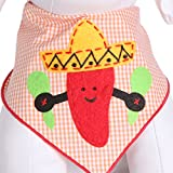 Tail Trends Cinco de Mayo Aye Picante Dog Bandanas for Medium to Large Sized Dogs - 100% Cotton (L)