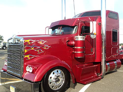 East Coast Vinyl Werkz No. 12 Semi Truck Flame Decals for sale  Delivered anywhere in USA
