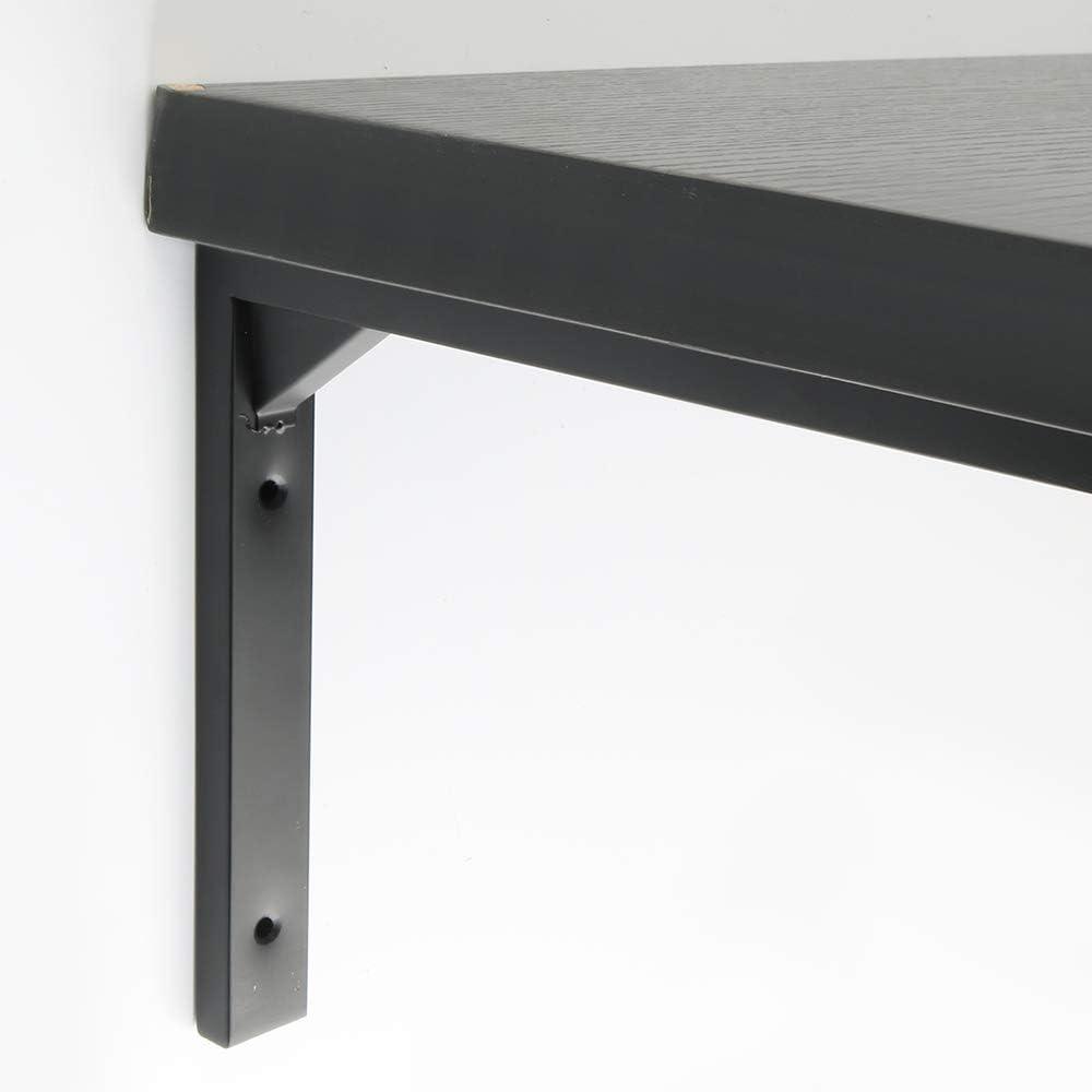 Mooche 2Pcs Shelf Bracket Right Angle Bracket Corner Brace Floating Heavy Duty Shelves Support Stainless Steel Matt Black 250mm//10 Inch SJ2010B-2P