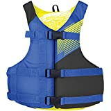 Stohlquist Fit Youth Life Jacket/Personal Flotation Device, Youth 50-90 lbs, Blue/Black