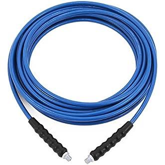 ShunLight Carpet Cleaning Solution Hose 1/4 Inch 50ft Blue Solution Line Hose High Pressure High Heat Solution Hose
