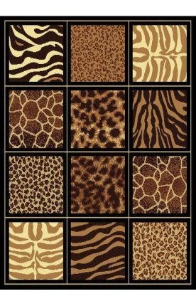 """United Weavers of America Legends Collection Safari Square Rug, 5'3"""" by 7'2"""""""