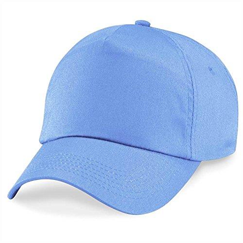 Beechfield - Gorra/Visera Básica - 5 paneles Azul Claro