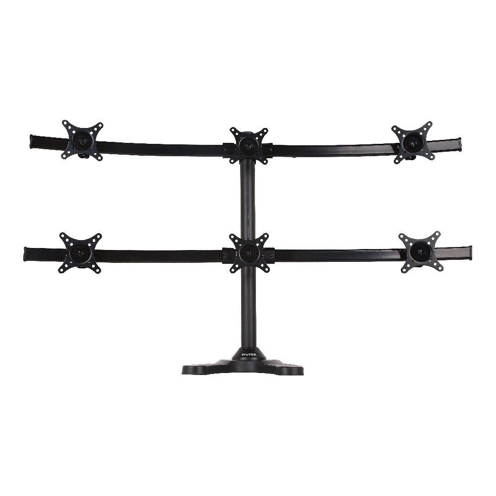 Viotek articulé support de moniteur réglable avec Height-monitor Bras avec fixation VESA 6-Monitor Stand noir