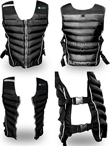 BodyRip Gewichts-Weste, hochwertig und langlebig, 5kg 10kg 15kg, schwarz, One Adjustable Size