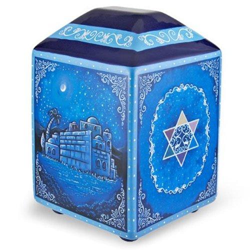 Jerusalem and Judaica Motifs Tzedakah Charity Box