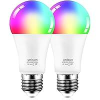 Smart Ledlamp, E27, stembediening, gloeilamp met timingfunctie, 2700 K warm wit licht met 16 miljoen meerdere kleuren…