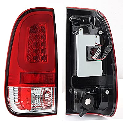 For 08-16 Ford F250 F350 F450 F550 SuperDuty LED Tube Red Tail Brake Lamps Left Driver+Right Passenger: Automotive
