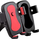 [2Pack]Car Mount,iBarbe Univeral Cell Phone Car Mount Holder for iPhone X 8/8plus 7/6S/6/5S/7 Plus, Samsung Galaxy S8 S7 Edge S6 S5 Note 5/4,Nexus,HTC,LG,Sony More Smartphone&GPS-Black+red