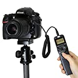 Pixel T3/E3 Wired Shutter Release Timer Remote Control LED Screen for DSLR Canon Pentax Samsung Contax Cameras