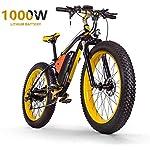"""51wif5%2BGjTL. SS150 HSART Mountain Bike Elettrica da 1000W per Adulti, Bicicletta Elettrica Pneumatico Grasso 26"""" Batteria agli Ioni Litio 48V 17.5AH 27 velocità MTB Professionale Bicicletta per Uomo Donne"""