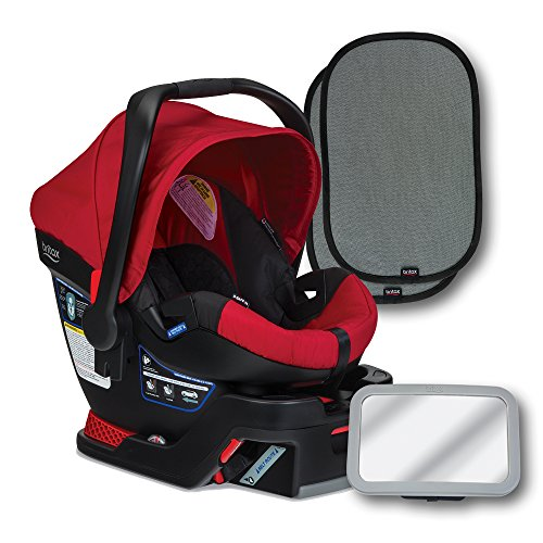 Britax B-Safe 35 Infant Car Seat, Red, Back Seat Mirror, and 2...