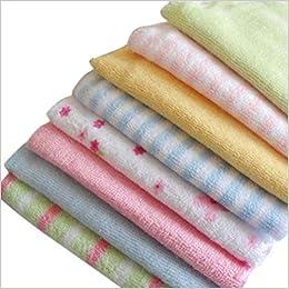Leading-Star - Baby Face arandelas gamuza de toallas de mano de algodón limpiador lavado al por mayor 8pcs/pack: Amazon.es: Libros