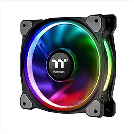 Thermaltake CL-F059-PL12SW-A Riing Plus 12 RGB TT Premium Edition 120mm  Software Enabled Circular 12 Controllable LED RGB Riing Case/Radiator Fan -