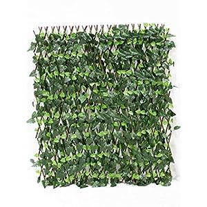 "Events & Crafts Accordion Ivy Lattice Fence 8' 4"" - Faux Ivy Trellis 2"