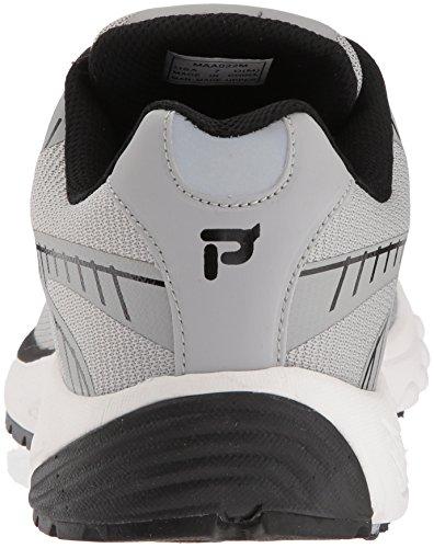 Propet Mens Propet One Lt Sneaker Argent / Noir