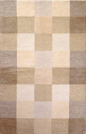 Kas Rugs 1054 Eternity Checkerboard Area Rug, 3-Feet 3-Inch by 5-Feet 3-Inch, Ivory