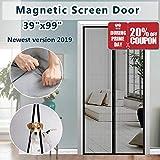 Fiberglass Mesh Magnetic Screen Door, IKSTAR Instant Screen Door with Full Frame Magics Tape Mesh Curtain for Front/Back Door Home Outside, Kids/Pets Walk Through Easily Fit Door Up to 36