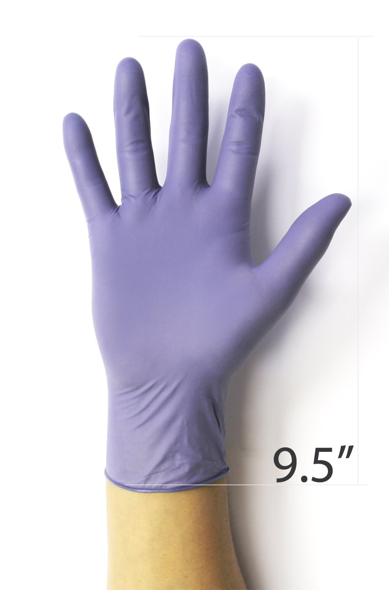 Nitrile Gloves - Infi-Touch Steel Blue Nitrile Gloves - 9.5'' Length, Powder Free, Hypoallergenic, 6 mil Thickness, 100 Count - Medium