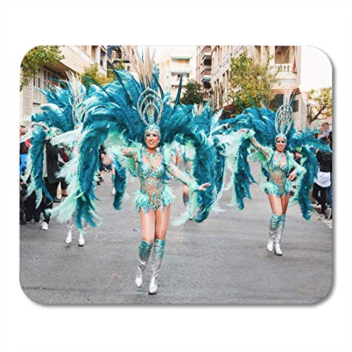 SYMSPAD Carnival Groups and Costumed Characters Parade Through The Streets of City February 19 Torrevieja Spain Mousepad 8.6 X 7.1 -