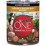 Purina One Smartblend Natural Classic Ground Chicken & Brown Rice Entree Adult Wet Dog Food - (12) 13 Oz. Cans