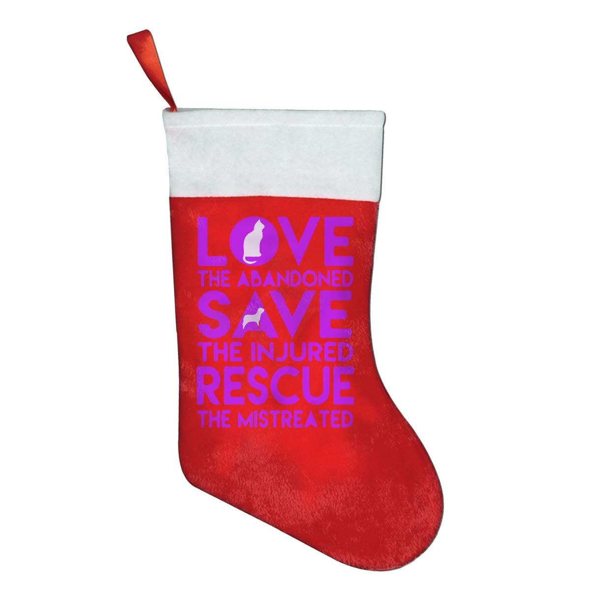 YISHOW Funny Dog Rescue Animal Cat Rescue Felt Christmas Stocking Party Accessory