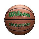 Wilson WTB0595XB0601 Evolution Size Game Basketball-Green, Brown, Intermediate