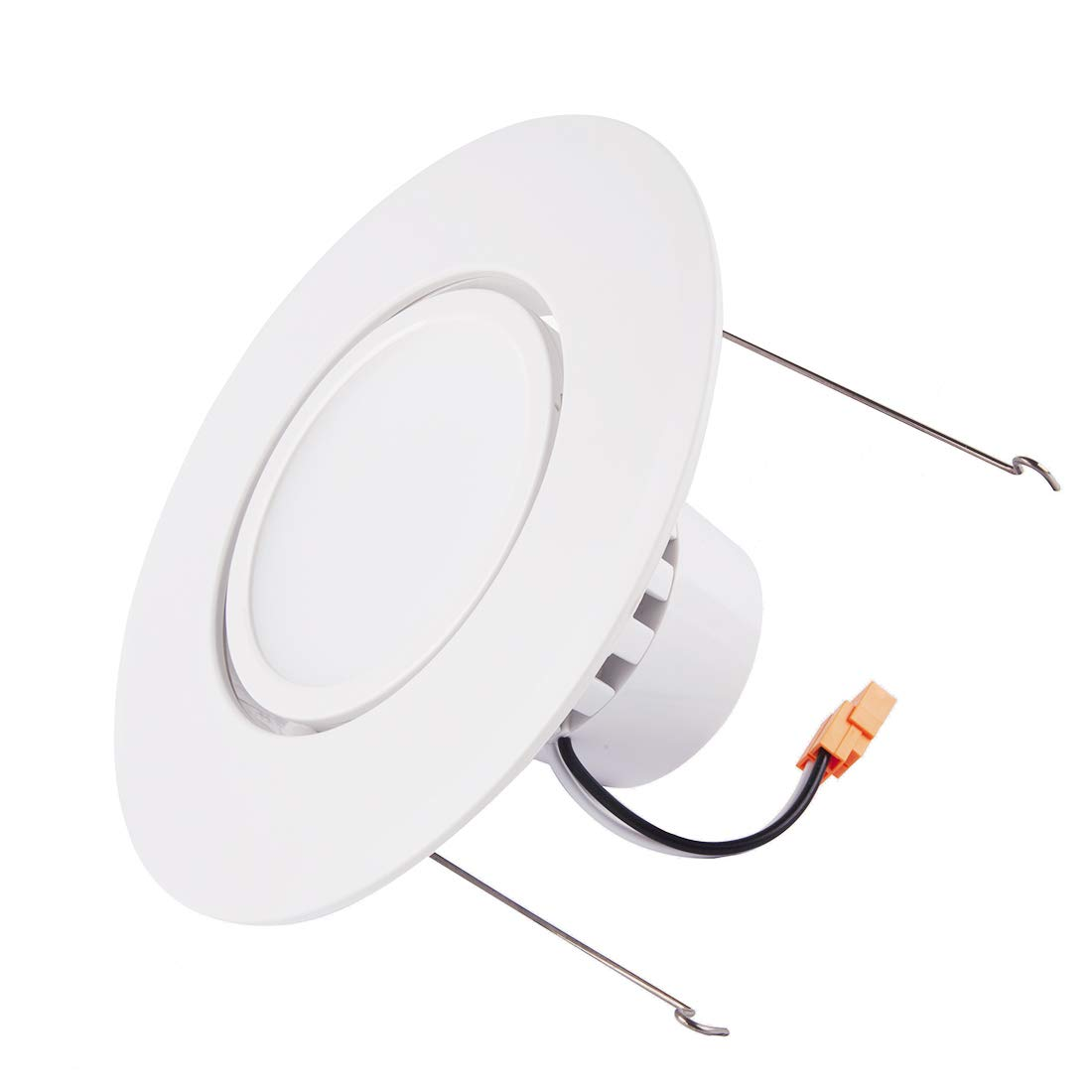 JJC Recessed Lighting 6 Inch LED COB Dimmable Gimbal Downlight Ceiling Lights 12W(80W Equiv.)840LM 5000K Daylight Energy Star Certified&ETL-Listed
