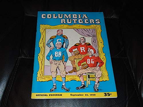 1948 RUTGERS AT COLUMBIA COLLEGE FOOTBALL PROGRAM WITH NEWS PAPER from Ticket Stubs and Pubs