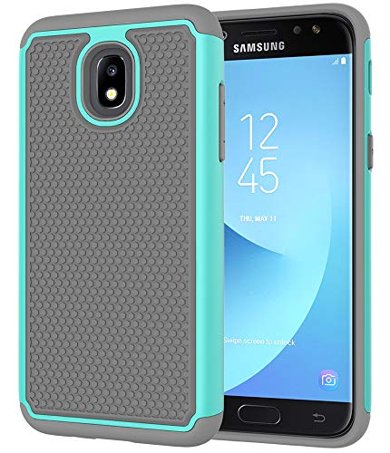 Galaxy J3 2018 Case,Galaxy J3 Achieve Case,Galaxy J3 Star Case,Galaxy Express/Amp Prime 3 Case,Galaxy J3 V 3rd Gen Case,Asmart Dual Layer Protective Cover Phone Case for Samsung Galaxy J3 2018(Mint)