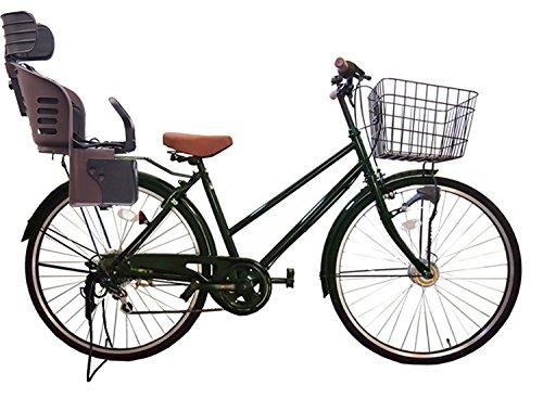 Lupinusルピナス 自転車 26インチ LP-266TA-knrj-br シティサイクル シマノ製外装6段ギア オートライト 樹脂製後子乗せブラウン B073LMLWDM グリーン グリーン