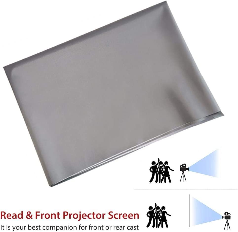 3 HD Pantalla de pel/ículas de proyecci/ón port/átil Antiarrugas Plegable para Cine en casa al Aire Libre Interior N//Y Pantalla del proyector 4
