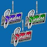 "Kurt Adler Frank Sinatra ""SINATRA"" Ornament Set OF 3"