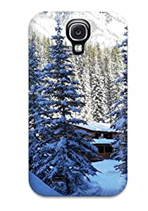 Premium [NomHrKk400PIKDi]drifts Of Snow And A Cabin In The Woods Case For Galaxy S4- Eco-friendly Packaging