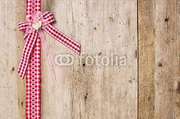 Assi Di Legno Rustiche : Nastri rossi regalo con fiocco da rustiche legno assi 81450930