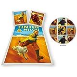 Tintin Desert DBO Parure Linge de Lit 200 cm x 140 cm