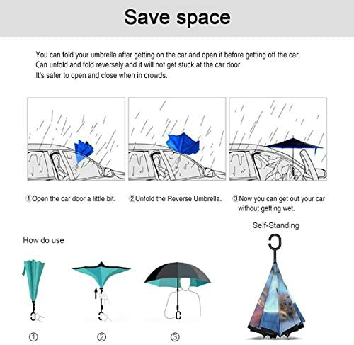 ユニークなフクロウ 逆さ傘 逆折り式傘 車用傘 耐風 撥水 遮光遮熱 大きい 手離れC型手元 梅雨 紫外線対策 晴雨兼用 ビジネス用 車用 UVカット