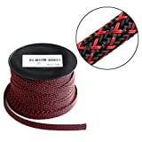 100ft - 3/8 inch Flexo PET Expandable Braided Sleeving – BlackRed – Alex Tech Braided Cable Sleeve