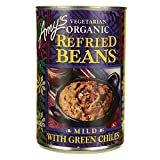 Amy's Organic Refried Beans With Green Chiles - Case Of 12 - 15.4 Oz. 15.4 OZ