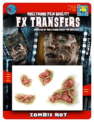 [Tinsley Transfers  Zombie Rot, Flesh/Multi, One Size] (Prosthetic Fx Makeup Halloween Masks)