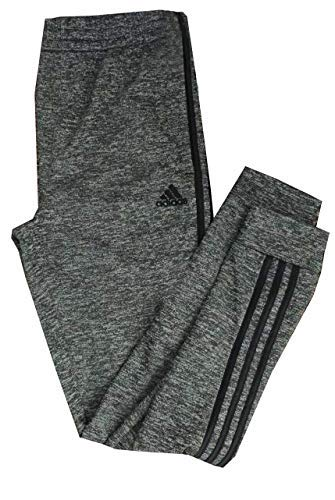 adidas Boys' Triple Stripe Space Dye Gray Athletic Track Pants (L 14/16) (Adidas Track Pants For Boys)