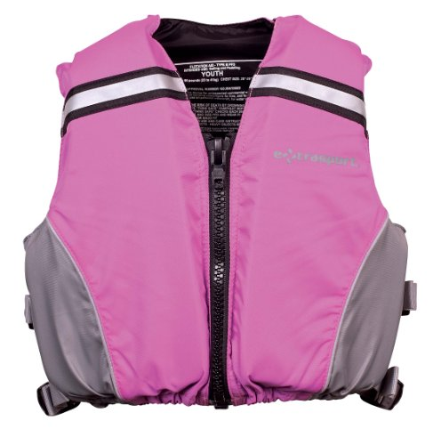 Life Extrasport Jackets (Extrasport Youth Volks Personal Flotation Device/Life Jacket Fits 50-90 -Pound, Pink/Gray)